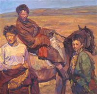 three tibetans by chen yifei