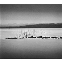 night fishing nets, honshu by michael kenna