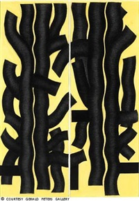 black trees - yellow ground by garo zareh antreasian