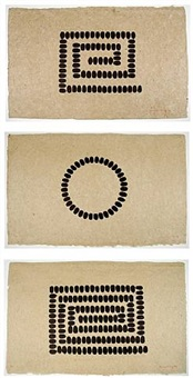 untitled (a, b, c) by richard long