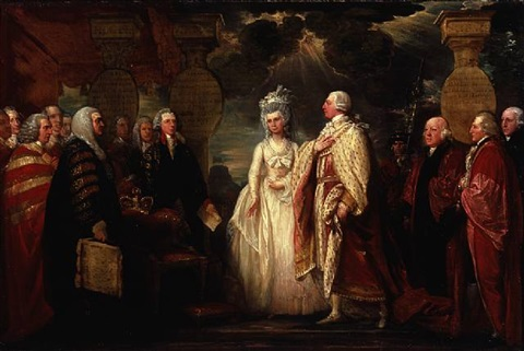 his majesty george iii resuming power in 1789 by benjamin west
