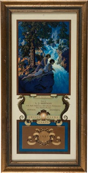 small edison mazda lamps calendar the waterfall by maxfield parrish