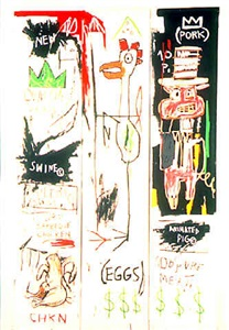 quality meats for the public by jean-michel basquiat
