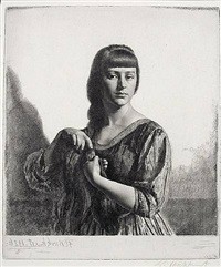 la tresse (anais) by gerald leslie brockhurst
