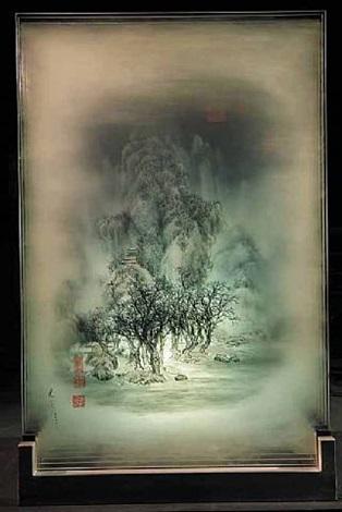 ancient landscape of fan kuan no.2 by xia xiaowan