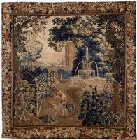 a brussels baroque pastoral tapestry (tpy 10)
