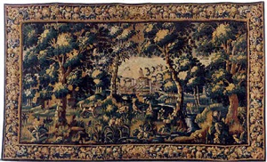 a flemish baroque verdure tapestry (tpy 12)