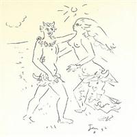 faun und nymphe - l' apres midi d' un faune (debussy) by jean cocteau