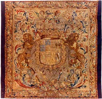a pair of brusseles baroque armorial tapestries (tpy 36)