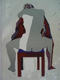 rückenakt auf stuhl by norbert tadeusz