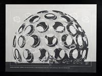 geodesic structures-monohex from the portfolio inventions: twelve around one by buckminster fuller