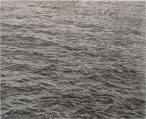 untitled - ocean with cross #1 by vija celmins