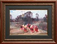 saint nicholas day (sold) by stepan feodorovich kolesnikov