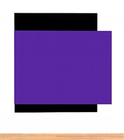 purple relief over black by ellsworth kelly