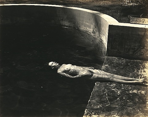 floating nude by edward weston