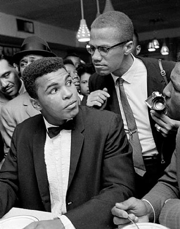 cassius clay and malcolm x, miami by bob gomel