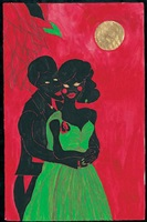 afro lunar lovers by chris ofili
