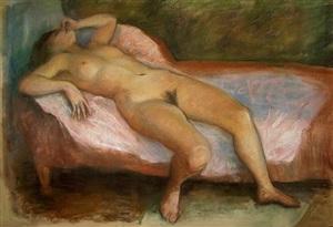 untitled (nude) by róbert berény