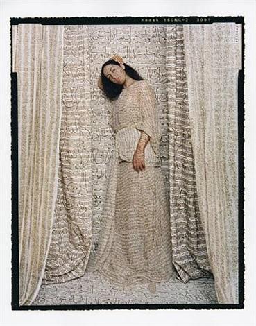 les femmes du maroc: standing odalisque by lalla essaydi