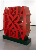 love wall red red by robert indiana