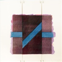 two of a kind va (broken blue line on purple) by richard smith