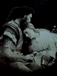 the painting of lancelot and queen guinevere by julia margaret cameron