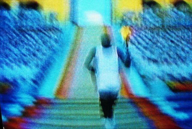 olympic torch by harry gruyaert