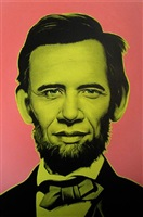 abraham obama (yellow/pink) by ron english