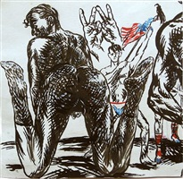 untitled (w) by raymond pettibon