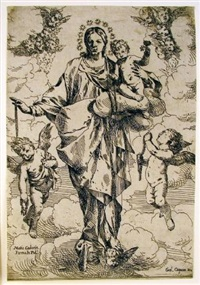 the madonna of the rosary by giulio carpioni