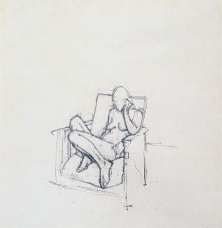 seated figure by euan uglow