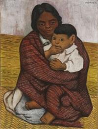 madre y niño by diego rivera