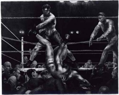 dempsey and firpo by george wesley bellows