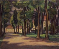 landscape with trees by michel adlen