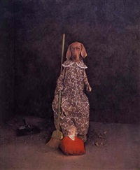 glass slipper by william wegman