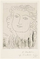 visage au regard lointain (face with a remote glance) by henri matisse