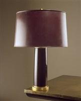 lampe à fût / macassar ebony lamp by émile jacques ruhlmann