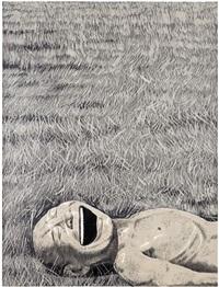 print 3 by yue minjun