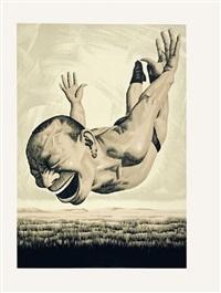 print 5 by yue minjun