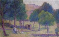 paysage idyllique by hippolyte petitjean