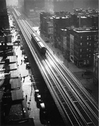 elevated train, 9th ave, 1940 by andreas feininger