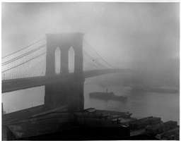 brooklyn bridge in fog, brooklyn walk by andreas feininger