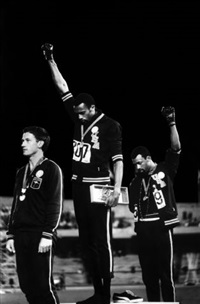 1968 olympics black power salute, mexico city, october 16, 1968 by john dominis