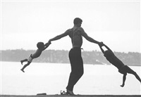 jacques d'amboise playing with his sons, seattle, washington, 1962 by john dominis