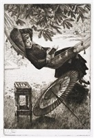 le hamac (the hammock) by james jacques joseph tissot