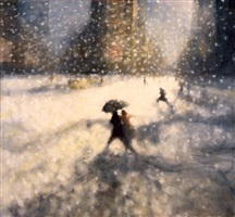 snow, times square i by bill jacklin