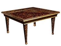 tortoise eglomise table by maison jansen