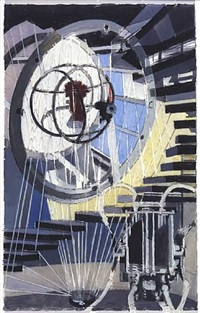the spirit of research (study for general motors research) by charles sheeler