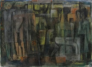 untitled (abstract figures) by charles henry alston
