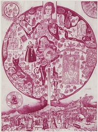 map of nowhere (purple) by grayson perry
